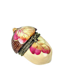 acorn with leaf limoges box