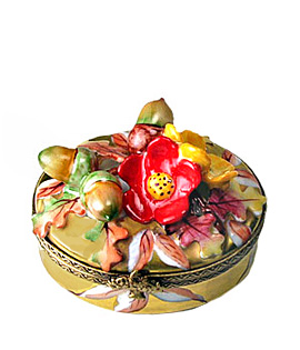 Chamart autumn flowers Limoges box