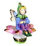 rochard fairy on flower limoges box