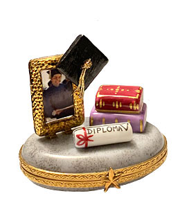 Limoges box graduation box with photo frame