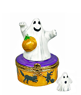 limoges box ghost with mini ghost