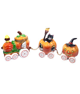 Halloween train limoges box