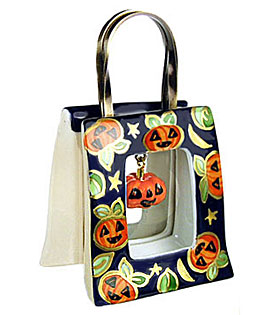 Rochard Halloween bag with dangling pumpkin