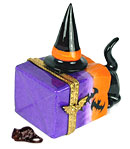black cat in Haloween sack Limoges box