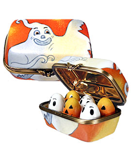 Halloween eggs in carton Limoges box