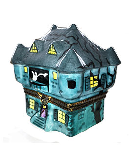 Limoges box green haunted house