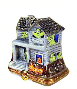 Artoria grey haunted house Limoges box