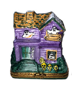 Artoria purple haunted house with ghosts limoges box