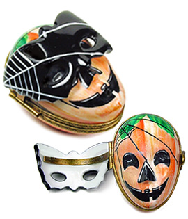Jack o lantern with hinged mask Limoges box