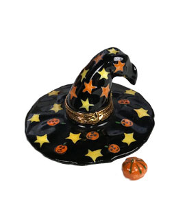 Artoria Limoges biox witch hat wit pumpkin