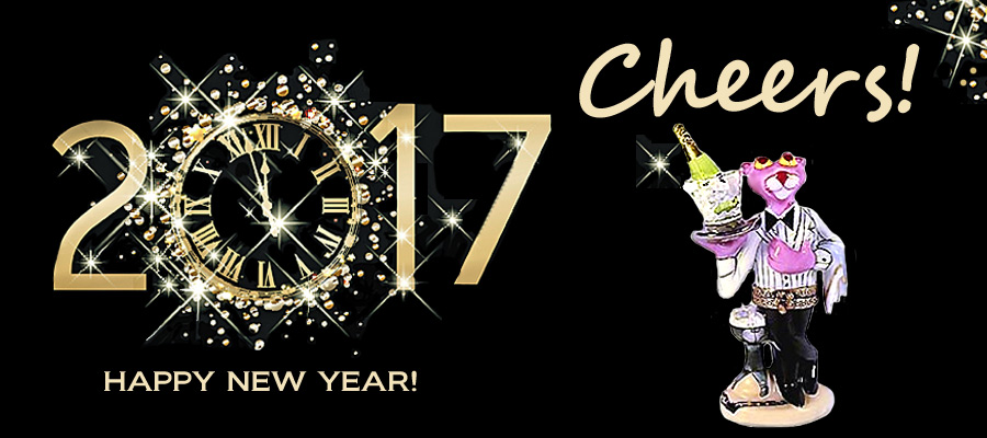Limoges box banner pink panther cheers to 2017