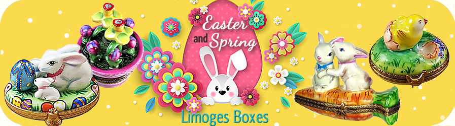 Spring and Easter Limoges boxes banner