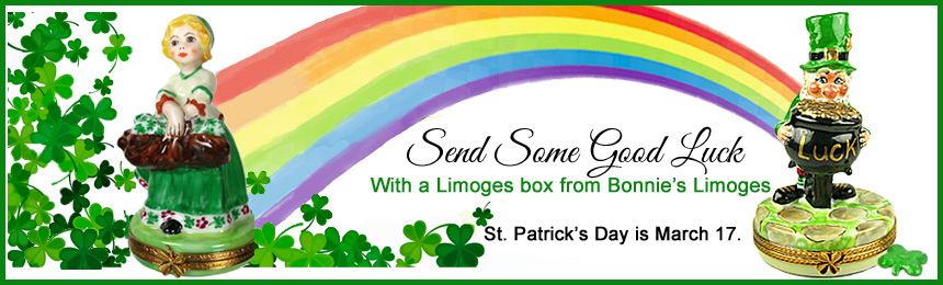 St. Patrick's day good luck Limoges boxes