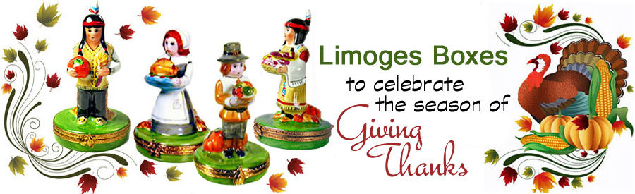 Thanksgiving Limoges boxes banner
