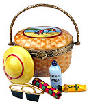 limoges box Nantucket beach bag with 5 removable items