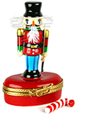 Nutcracker with bristly hair Limoges box