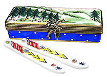 skis in case Limoges box