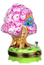 treehouse with flowers limoges box