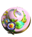 spring hat limoges box with flowers