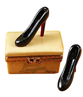 Limoges box stiletto heels from Rochard