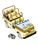 Limoges box African safari jeep with binoculars
