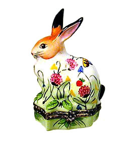Limoges box Springtime rabbit