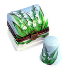 limoges box lily of the valley with thimble