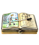 lady golfer book limoges box
