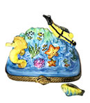 scuba dive with fish Limoges box