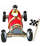 race car wigh flag limoges box