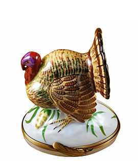 Limoges box brown turkey