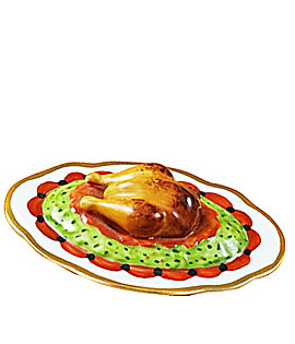 turkey on platter Limoges box