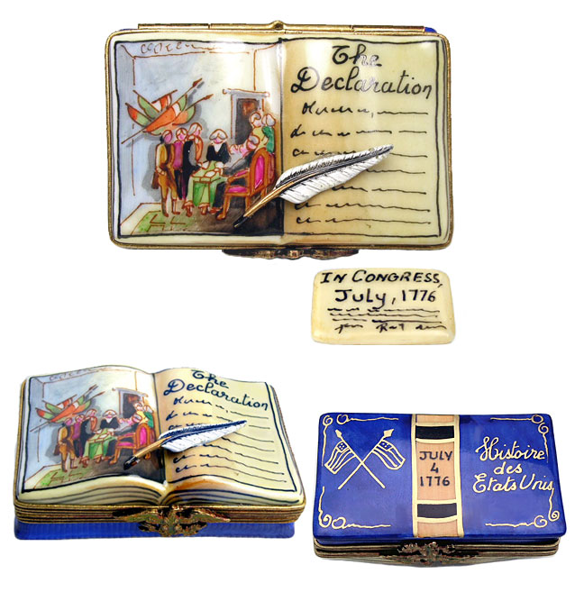 declaration of independence limoges box