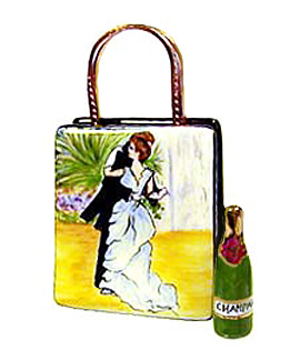 renoir dance bag with champagne