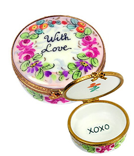 with love Limoges box from Rochard