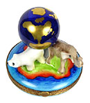 Limoges box endangered animals-fragile planet