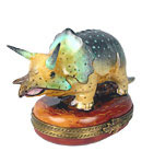 Triceratops Dinosaur Limoges Box  from Rochard