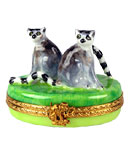 Pair of Lemurs Limoges box from Rochard