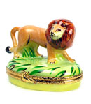Artoria Limoges box lion in jungle